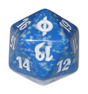MTG Spindown D20 Life Counter - New Phyrexia Blue