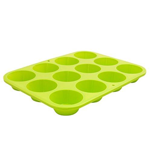 Marathon Housewares Premium Silicone 12 Cup Mini Muffin Pan, Green KW200011GR