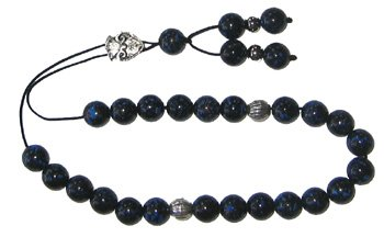 Worry Beads - Classic - Black with Turquoise