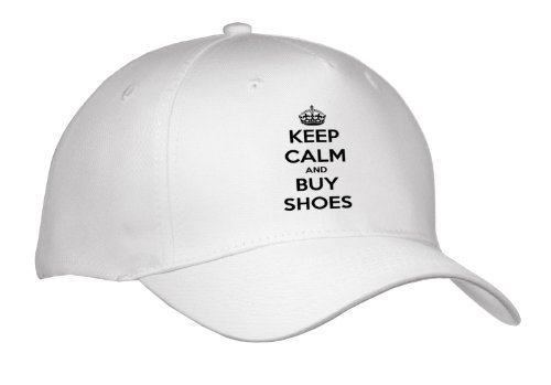 Evadane - Funny Quotes - Keep Calm And Buy Shoes. Shopping. High Heels. - Caps - Adult Baseball Cap