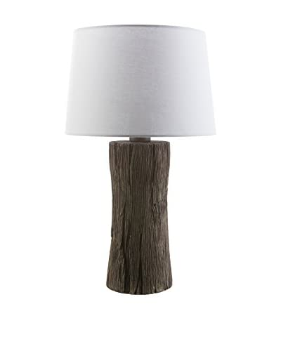 Surya Sycamore Outdoor Table Lamp, Faux Wood