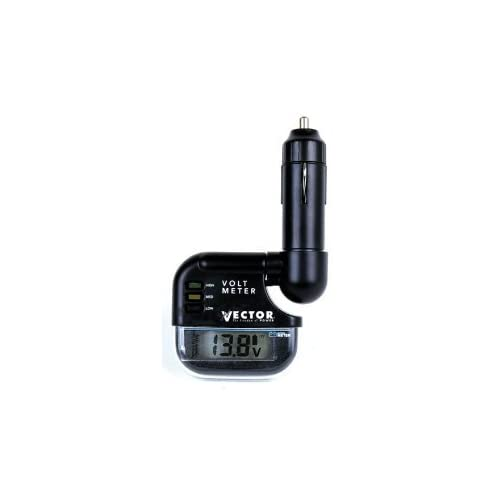 Amazon.com: Vector VEC008 Digital LCD Voltmeter, 12 Volt
