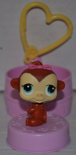 Monkey #159 (Red, McDonald's 2006) Littlest Pet Shop (Retired) Collector Toy - LPS Collectible Replacement Single Figure - Loose (OOP Out of Package & Print) - 1