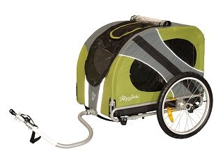 DoggyRide Novel Dog Bike Trailer, Outdoors Green