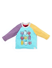 Raglan Sleeve Monsters T-Shirt