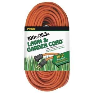 100 Ft 16/2 Lawn and Garden Extension Cord