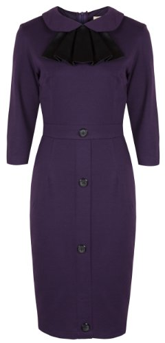 Lindy Bop 'Rena' Vintage Mad Men Style Jersey Wiggle Dress
