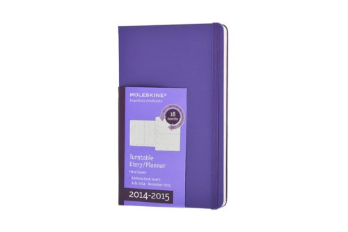 Moleskine 2014-2015 Turntable Weekly Planner, 18M, Large, Brilliant Violet, Hard Cover (5 x 8.25) (Moleskine Diaries) (Moleskine Planner Turntable 2015 compare prices)