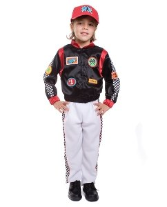 Race Car Driver Child Costume Size Large