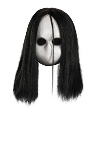[Adult Evil Possessed Blank Black Eyes Doll Costume Mask] (666 Halloween Costume)