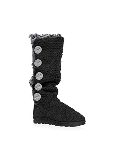 MUK LUKS Women's Malena Crotchet Button Up Boot