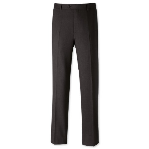 Charles Tyrwhitt Charcoal classic fit travel suit trouser (30W x 38L Unfinished)