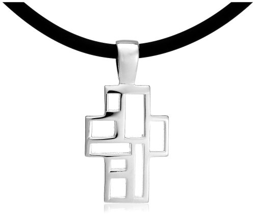 Zina Sterling Silver Windows Collection Cross, 17