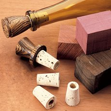 Woodturning Project Kit for Cork Bottle Stoppers (10-Pack)