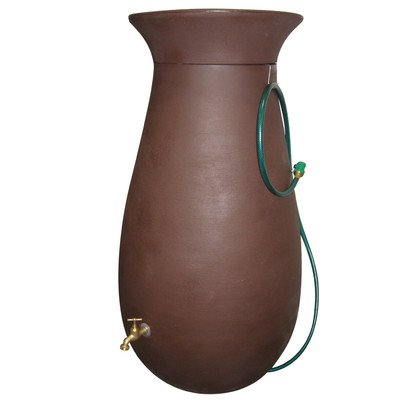 Algreen 81111 Cascata Rain Water Collection and Storage System, 65-Gallon, Dark Brown image