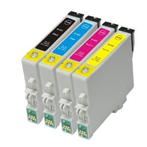4 Packs of Compatible / NON OEM Epson T0601, T0602, T0603, T0604 for Stylus C88, CX4200, CX4800, CX5800f, and CX7800