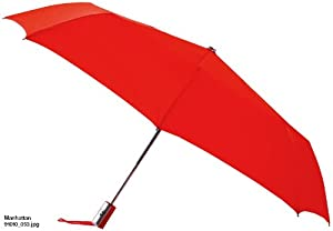 Leighton Manhattan Automatic Openclose Umbrella Red