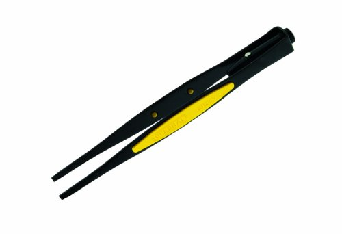 General Tools 70403 Serrated Blunt Points Lighted Tweezers