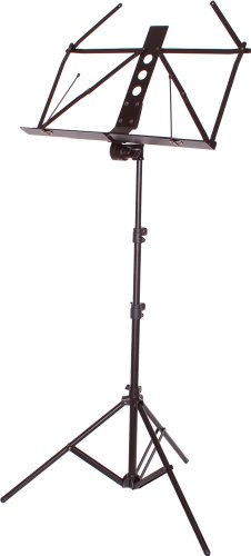 KC lightweight aluminum music stand black MSAL / BK (soft case)