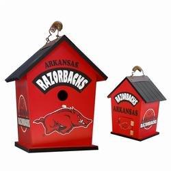 Buy Low Price Arkansas Razorbacks Bird House 8 1/4 IN.W x 9 1/2 IN.H x 6 IN.D (HHL83904)