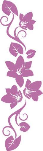 WANDTATTOO f269 wunderschöne Ranke mit hübschen Blumen 240×69 cm – flieder