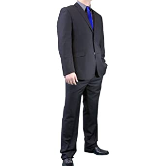 Figlio Lontano Slim Fit Suit - Flat Black-Size: 38S-Sleeve: Short-Chest: 38