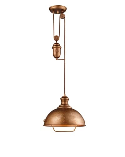 Artistic Lighting Farmhouse 1-Light Bellwether Pendant, Copper