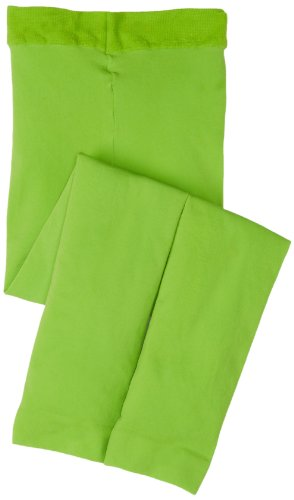 Jefferies Socks Little Girls' Microfiber Footless Tight, Lime, 4-6 Years front-1028807