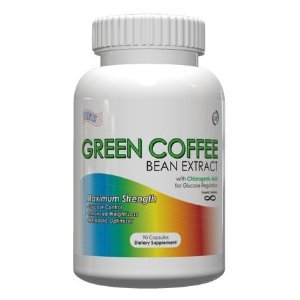 Green Coffee Bean Extract 1200mg Per Daily Dose 90 Capsules Standardized to 50 Chlorogenic Acid 200mg Premium Unroasted Green Coffee Extract Weightloss Formula For Buring Fat Fast