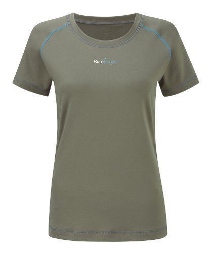 Womens RunBreeze Performance Running Tee Shirt Grey