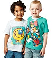 2 Pack Short Sleeve Mr. Men™ T-Shirts