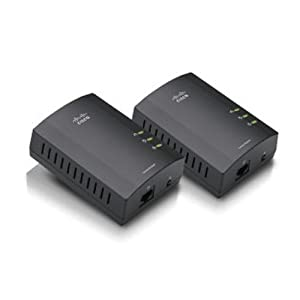 Linksys Powerline AV 1-Port Network Adapter Kit (PLEK400)