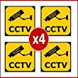 CCTV Warning Stickers: Four Pack