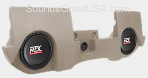 "Amplified Mtx Thunderform Sub Box For Dodge Ram Quad & Crew Cab 2002 - 2011 W 2-10"" Subwoofers Drqc20Ac-Tn (Tan)"
