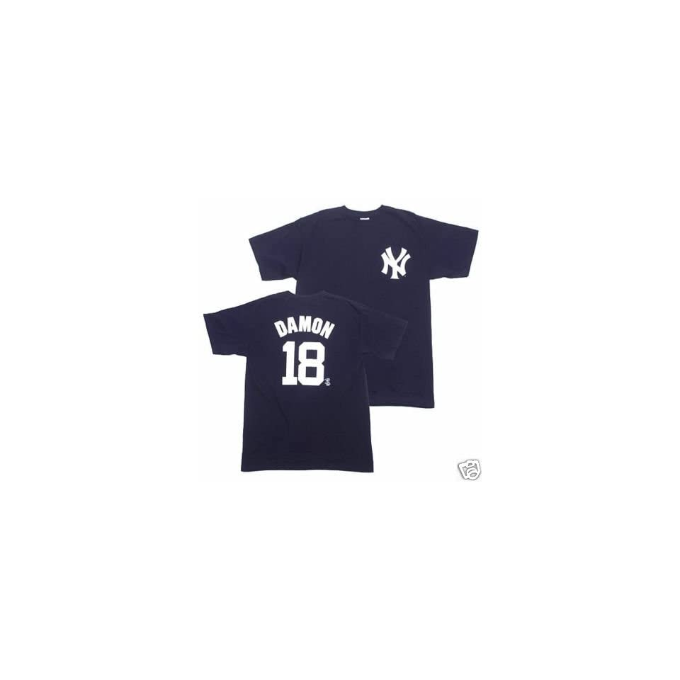 fab6f456d53 JOHNNY DAMON New York Yankees (100% Cotton) YOUTH T SHIRT with Name ...