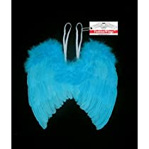 Blue Feather Angel Fairy Birds Macaw Costume Wings for 6-12 Months
