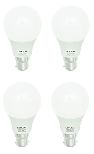 7W B22 LED Bulbs (Cool White, Pack of 4)