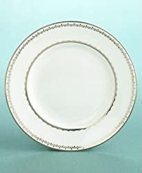 "Martha Stewart Collection with Wedgwood ""French Knot"" Bread & Butter Plate in Silver, 6"""