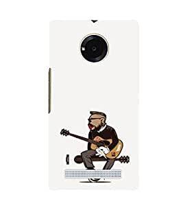 EPICCASE Guy with a guitar Mobile Back Case Cover For YU Yuphoria (Designer Case)