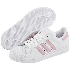 Adidas Superstar 2 White Pink Size 6.5 Junior