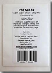 Super Sugar Snap Peas Seeds - Pisum Sativum - 8 Grams - Approx 32 Gardening Seeds - Vegetable Garden Seed