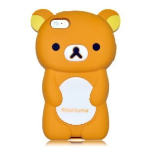 Brown Rilakkuma Bear Soft Silicone Case for iPhone