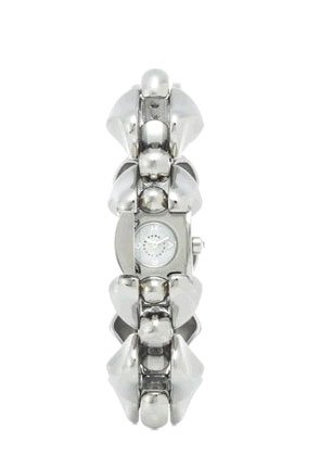 Marc By Marc Jacobs Silver Tone Alexis Chunky Bracelet Mop Dial Watch-Mbm8524