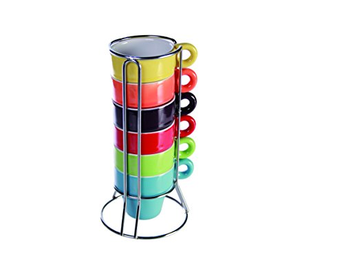 salesfever-espresso-set-6-cups-colours-of-the-rainbow-in-stand-and-gift-box
