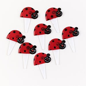 Ladybugs Food Picks (12) (Good Luck Party Supplies compare prices)