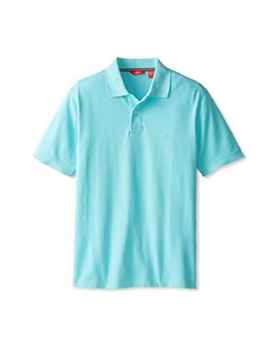 IZOD Men's Short Sleeve Solid Heritage Pique Polo
