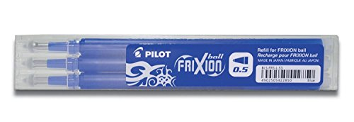 PILOT Lot de 3 Sets de 3 Recharges friXion Ball Clicker (BLS-FR5) Bleu