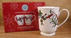 Martha Stewart Holiday Garden Footed Mugs