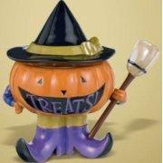 Halloween All Hallows Eve Candy Bowl- Pumpkin Witch