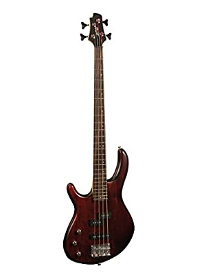Cort Action 4 Left Handed Electric Bass Guitar-Walnut